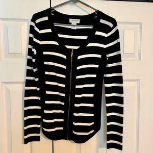 Carmen black and white striped sweater